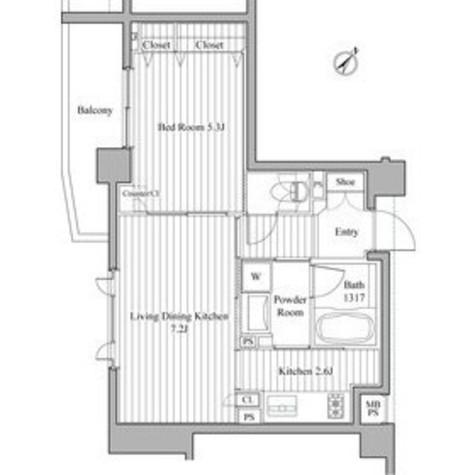 クリオ渋谷ラ・モード / 603 部屋画像1