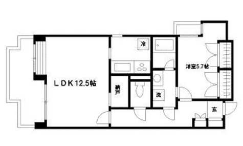 クラージュKAMAKURAYA / 5階 部屋画像1