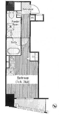 アクアアンビシャス八丁堀 / 3階 部屋画像1
