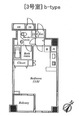 セントラルクリブ六本木Ⅰ / 1203 部屋画像1