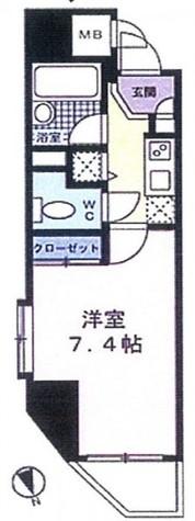 パレ・ホームズ新橋Ⅱ / 901 部屋画像1