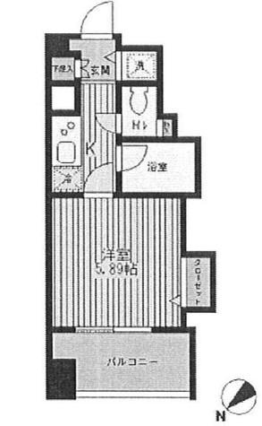 TOP RESIDENCE日本橋茅場町(トップレジデンス日本橋茅場町) / 1009 部屋画像1