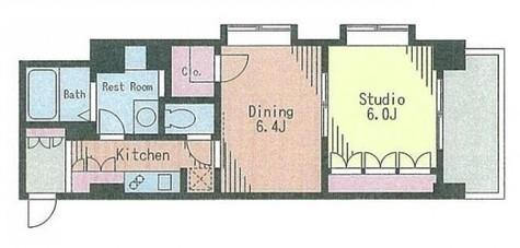 コートラクリア京橋 / 2階 部屋画像1