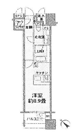 カスタリア銀座Ⅲ(旧ニューシティレジデンス銀座) / 12階 部屋画像1
