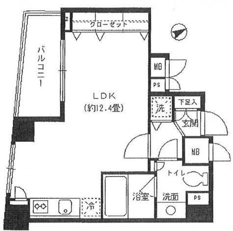 ミルーム広尾Ⅱ / 202 部屋画像1