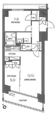 コンフォリア芝浦バウハウス / 13階 部屋画像1
