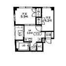 パークハイツ旗の台 / 6階 部屋画像1