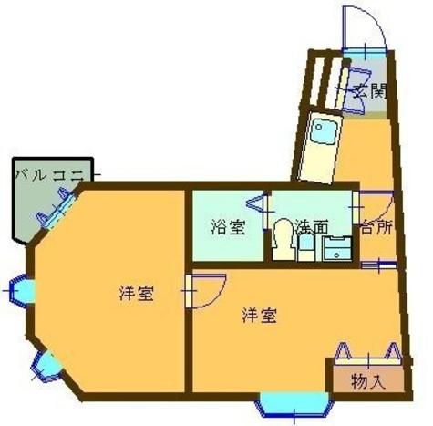 ラポルタイズミ / 206 部屋画像1