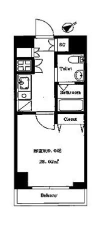 ライジングプレイス石川町 / 8階 部屋画像1