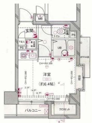 菱和パレス三田慶大前 / 4階 部屋画像1