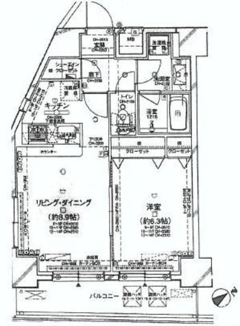 パレステュディオ白金台 / 6階 部屋画像1
