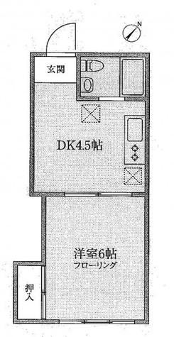 田町 5分マンション / 2階 部屋画像1