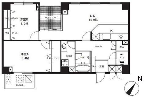 白山ハイツ / 2階 部屋画像1