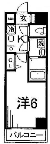 シエル白山B館 / 3階 部屋画像1