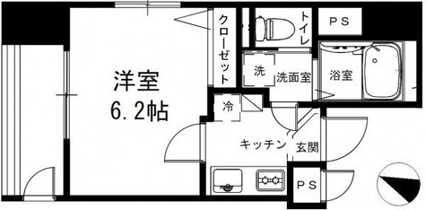 POWERHOUSE/BKⅡ(パワーハウス/BKⅡ) / 6階 部屋画像1
