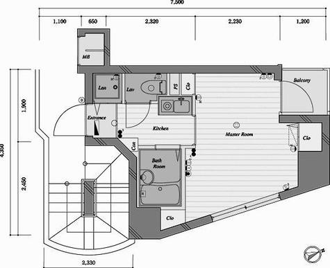 アイフェリーク日本橋 / 4階 部屋画像1