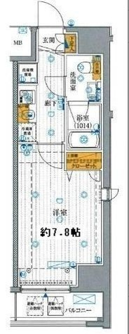 プレール・ドゥーク有明 / 4階 部屋画像1