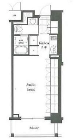 パークキューブ目黒タワー(旧アパートメンツタワー目黒) / 413 部屋画像1