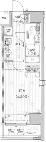 プレール・ドゥーク有明 / 3階 部屋画像1