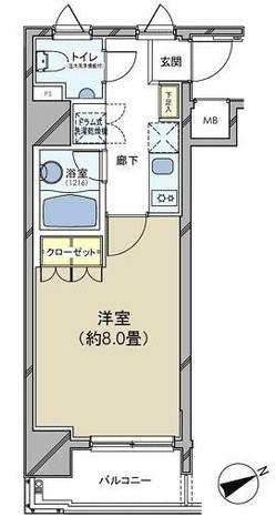 カスタリア日本橋 / 2階 部屋画像1