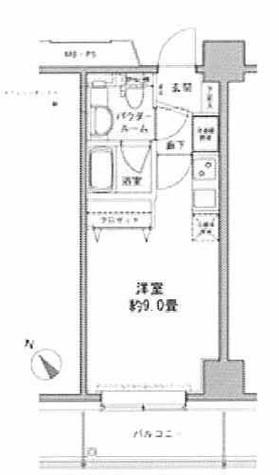 エコロジー豊洲プロセンチュリー / 8階 部屋画像1