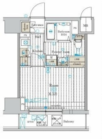 レグラス横浜メディオ / 7階 部屋画像1