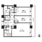 リバーポイントタワー / 35階 部屋画像1