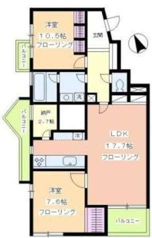 パルグレイス / 2階 部屋画像1