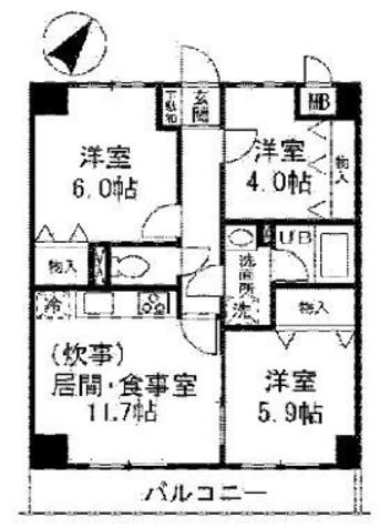 ユーフォリア三枝 / 3階 部屋画像1