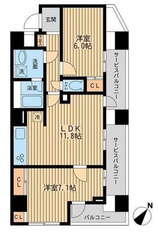 ユニフォート目黒中町 / 408 部屋画像1