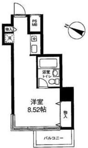 メゾン・ド・ヴィレ麻布台 / 206 部屋画像1