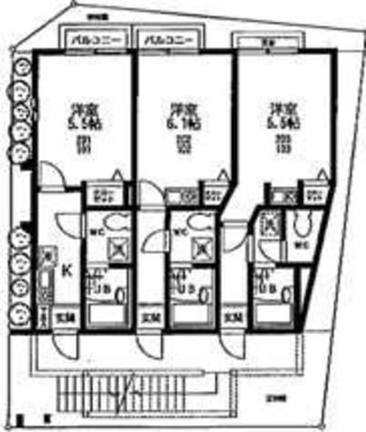 プリムローズ不動前 / 1階 部屋画像1