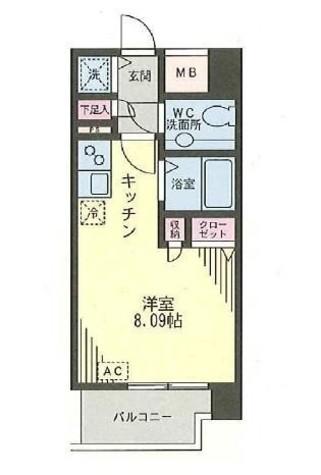 九段下 3分マンション / 7階 部屋画像1
