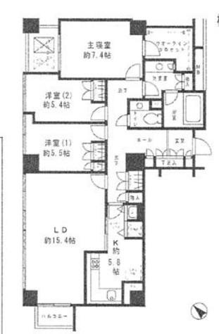 小石川パークタワー / 901 部屋画像1