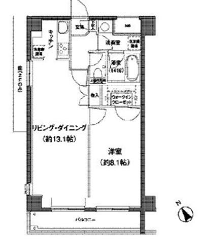 後楽園 9分マンション / 4階 部屋画像1