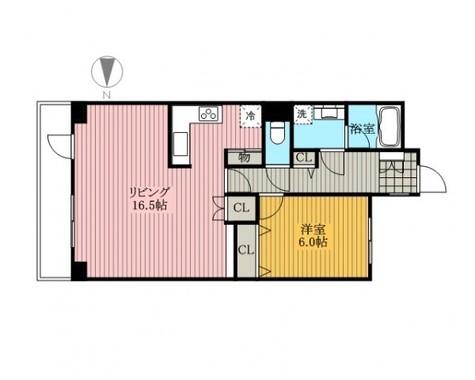 芝公園アパートメント / 404 部屋画像1