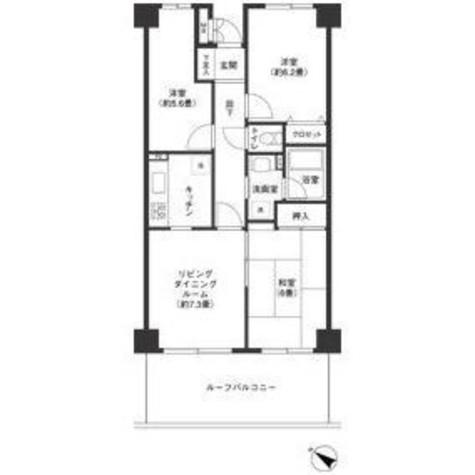 田園調布スカイライトマンション / 6階 部屋画像1