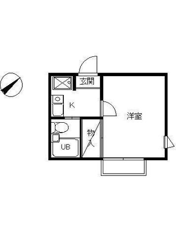 スカイピア綱島 / 2階 部屋画像1