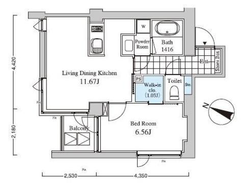Casa Albore(カーサ アルボーレ) / 4階 部屋画像1