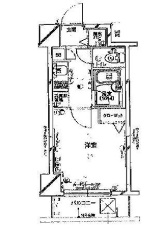 パークウェル早稲田弐番館 / 4階 部屋画像1