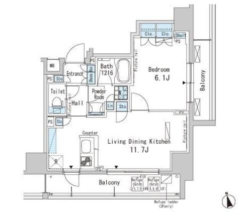パークアクシス上野 / 2階 部屋画像1