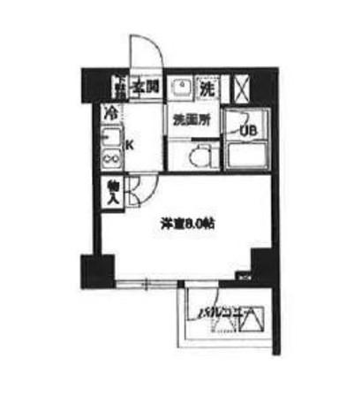 レジディア白金高輪(旧アルティス白金高輪) / 804 部屋画像1