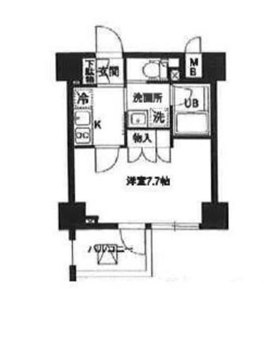 レジディア白金高輪(旧アルティス白金高輪) / 803 部屋画像1