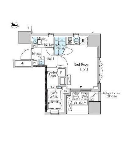 九段下 2分マンション / 2階 部屋画像1