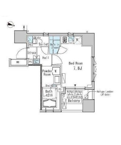 九段下 2分マンション / 5階 部屋画像1