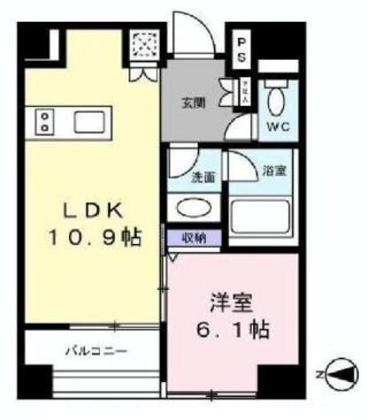 レフィナード蔵前 / 11階 部屋画像1
