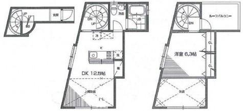 祐天寺 3分テラスハウス / 2階 部屋画像1