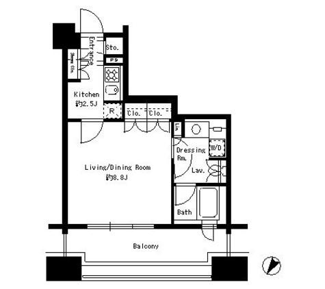 パークアクシス白金台 / 3階 部屋画像1