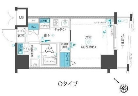 フェニックス武蔵小山 / 703 部屋画像1