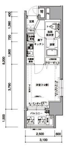 アイル東京リバーサイド / 6階 部屋画像1